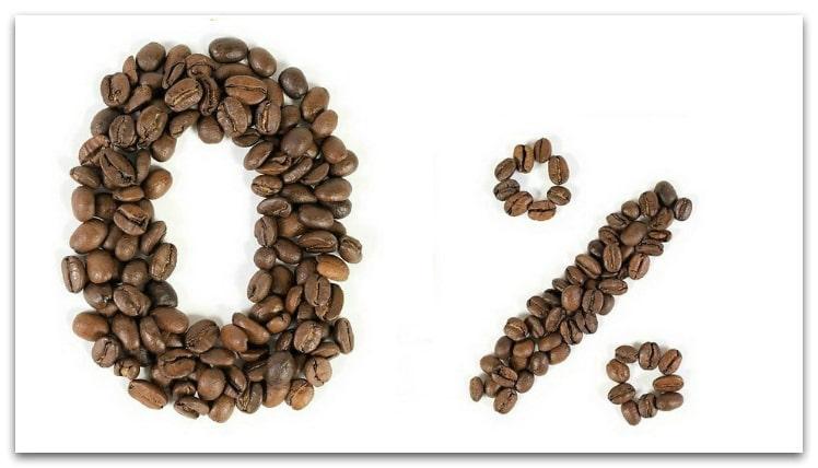 эмблема кофе без кофеина